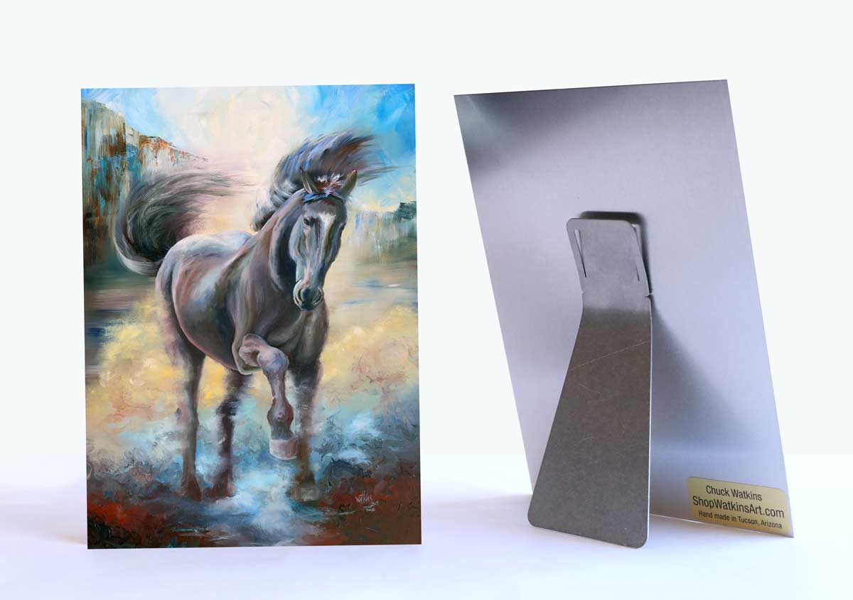 """Spirit Horse"" on Aluminum"