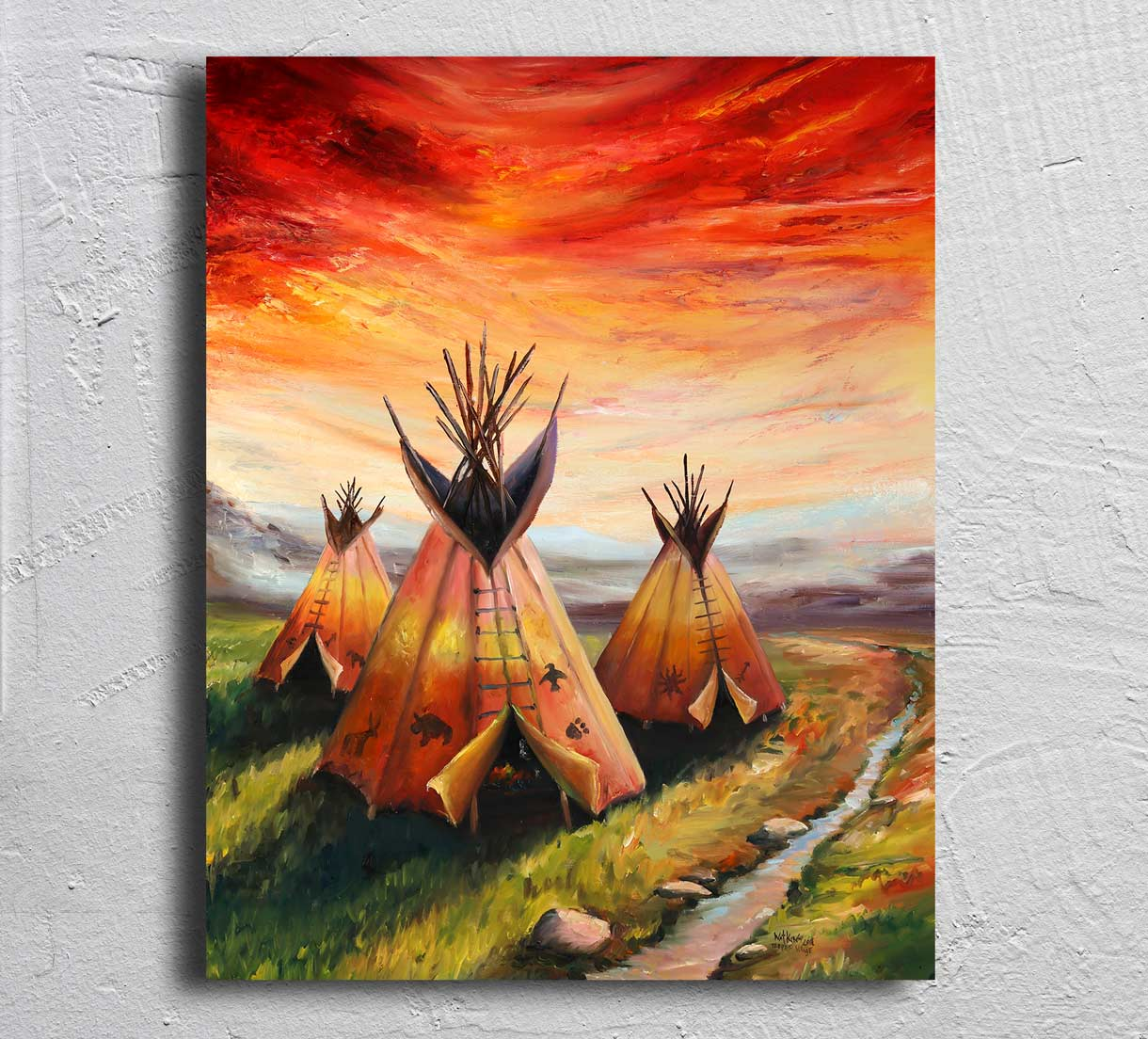 """Teepee Village"" on Aluminum"