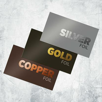 Custom designed business cards san antonio texas marketing depot foil worx cards reheart Image collections