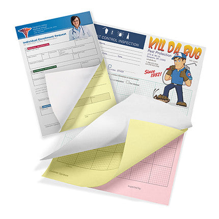 NCR Forms 3-Part Booklets w/Wraparound Cover