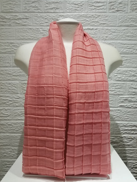 Cross Pleated Cotton- Blush