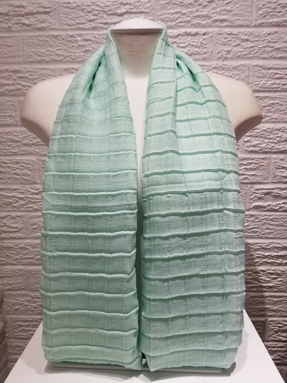 Cross Pleated Cotton- Mint