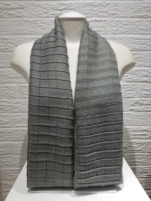 Cross Pleated Cotton- Grey