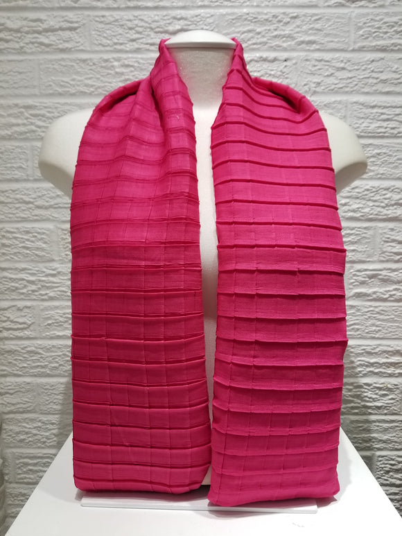 Cross Pleated Cotton- Hot Pink