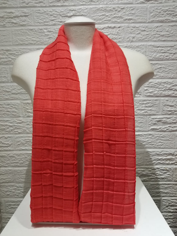 Cross Pleated Cotton- Coral