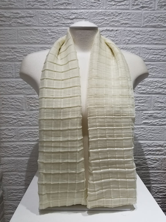 Cross Pleated Cotton- Vanilla
