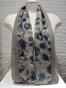 Printed Cotton- Lily- Grey