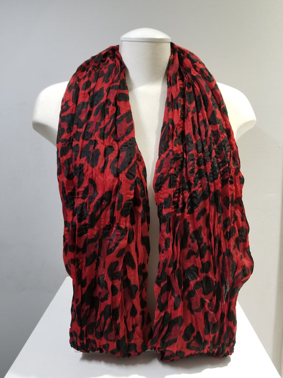 Crumpled- Cheetah Print- Red