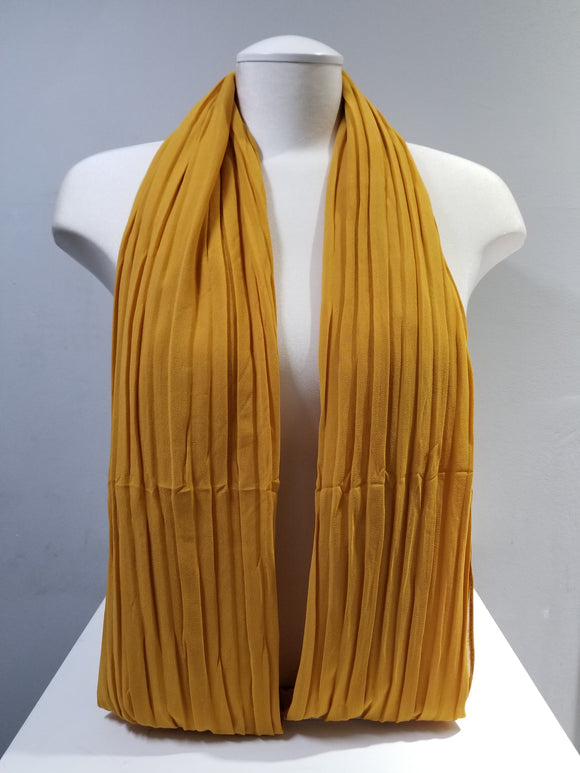Pleated Chiffon- Marigold