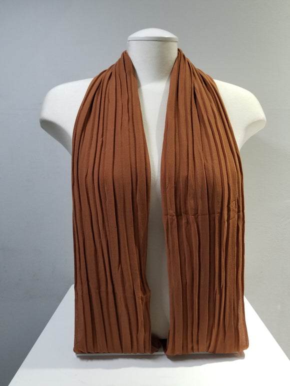 Pleated Chiffon- Mocha