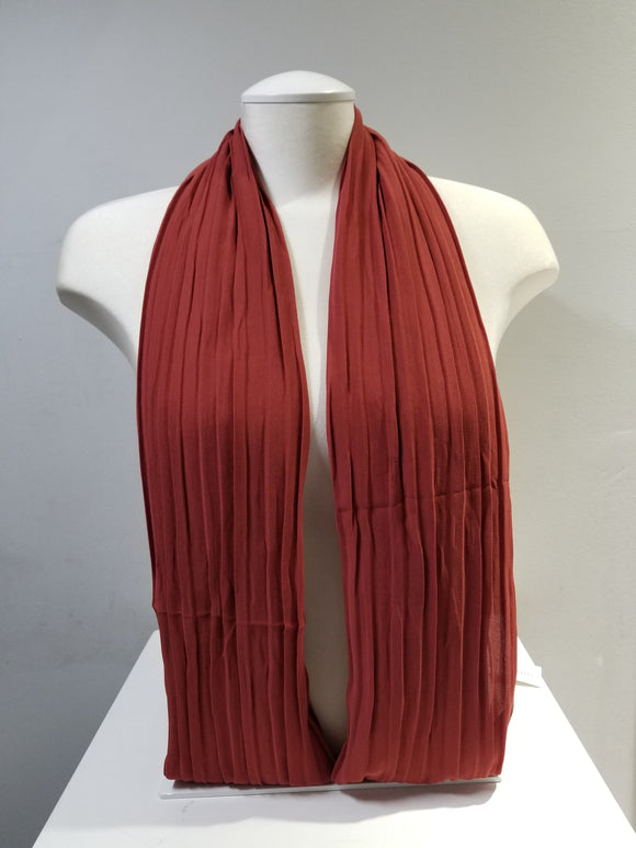 Pleated Chiffon- Burgundy
