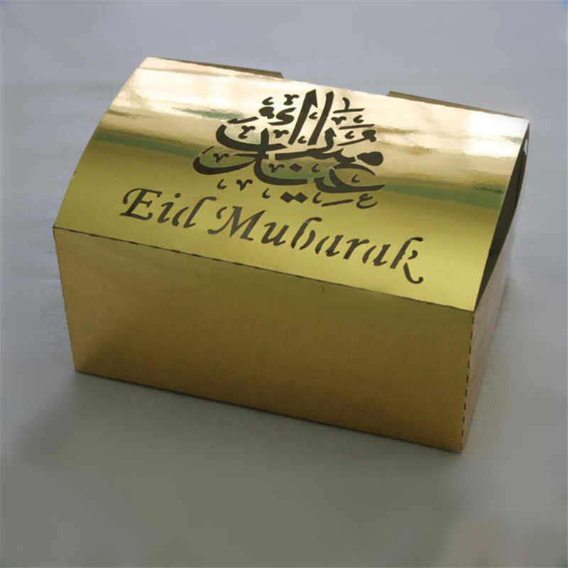 Gold Eid Mubarak Favour Box