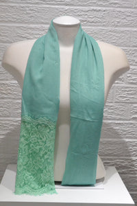 Cotton Floral Lace - Mint Green