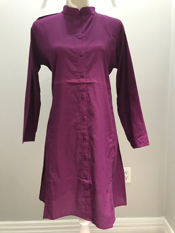 Cotton Tunic - Purple
