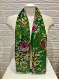 Printed Cotton - Rose - Green