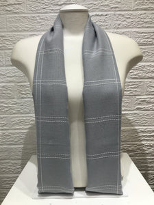 Square Stitched Hijab- Grey