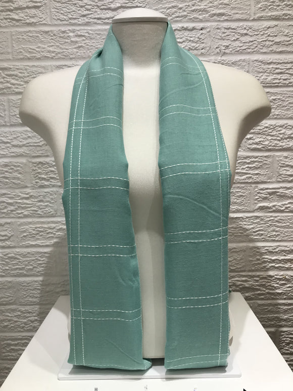 Square Stitched Hijab- Mint