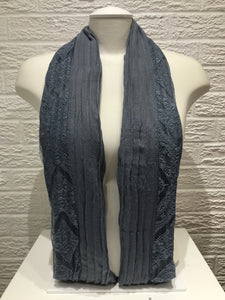 Pleated Cotton with Lace- Grey