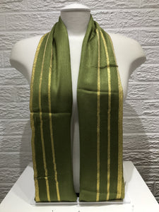 Gold Bordered Pashmina- Khaki