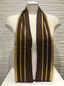 Gold Bordered Pashmina- Chocolate Brown