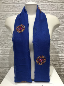 Embroidered Cotton- Medallion- Royal Blue