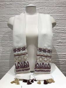 Embroidered Cotton- Maya- White