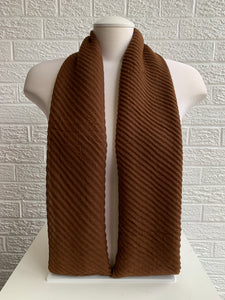Crinkled Cotton - Chocolate Brown