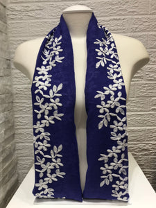 Embroidered Cotton- Blossom- Electric Blue
