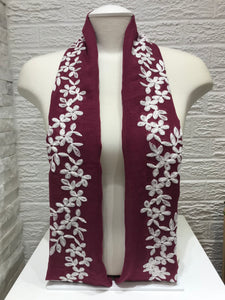 Embroidered Cotton- Blossom- Magenta