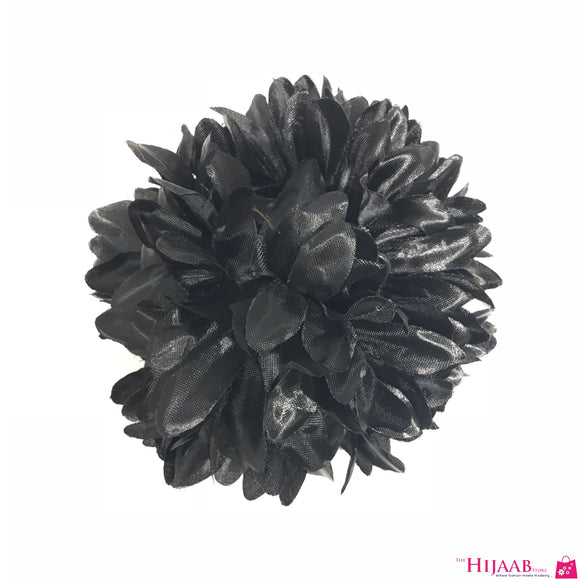 Volumizing Floral Clip- Black