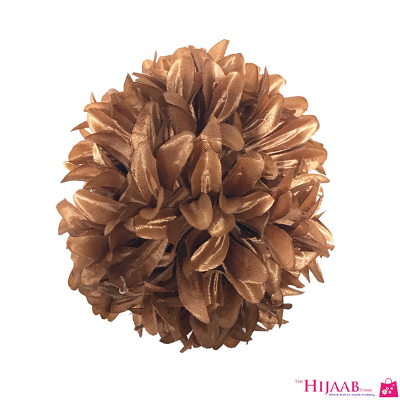 Volumizing Floral Clip- Brown