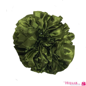 Volumizing Satin Scrunchie- Green