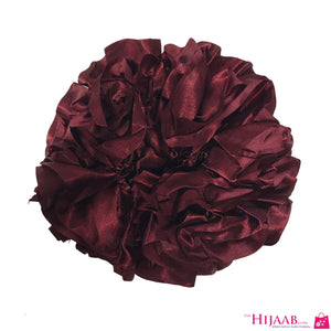 Volumizing Satin Scrunchie- Maroon