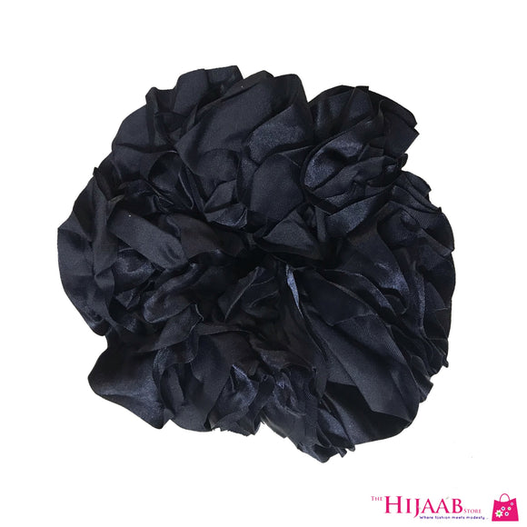 Volumzing Satin Scrunchie- Navy Blue