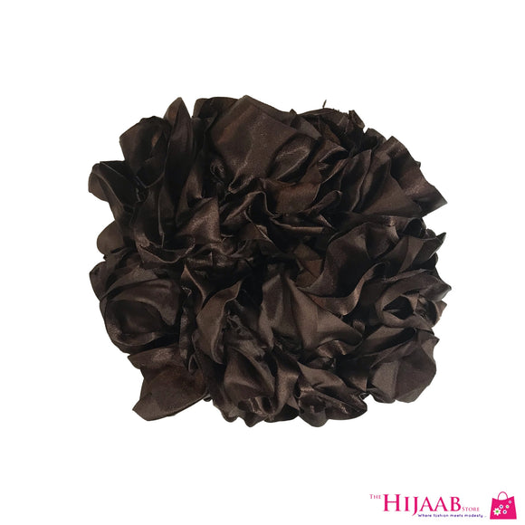 Volumizing Satin Scrunchie- Mocha