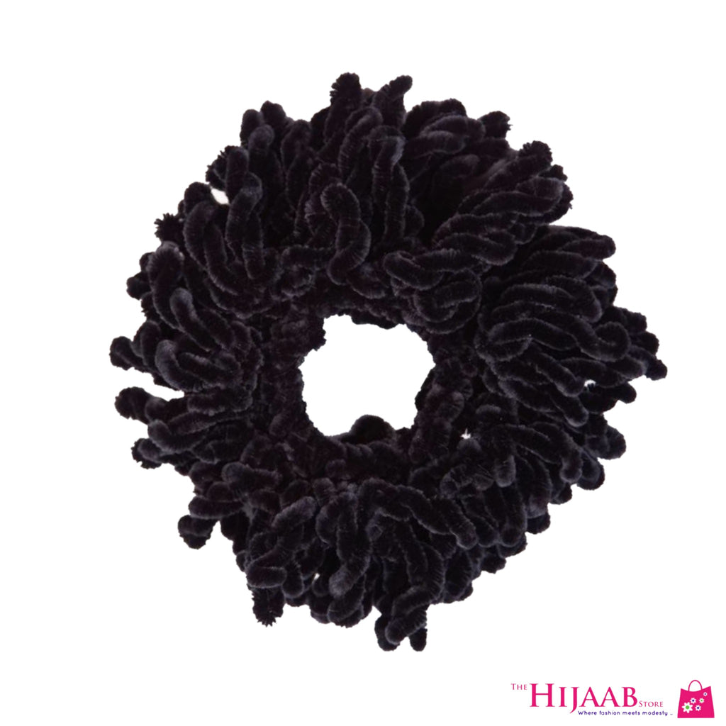 Black Volumizing Scrunchie