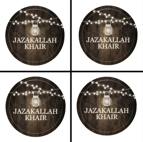JazakAllah Khair Sticker - 4 Pack