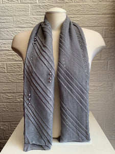 Sequin Line w/ Pearls - Grey