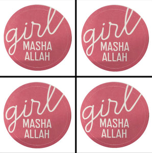 Girl Masha Allah Sticker - 4 Pack