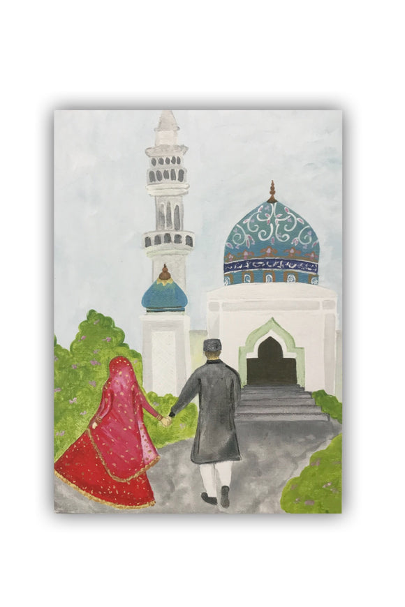 Wedding Mosque Card