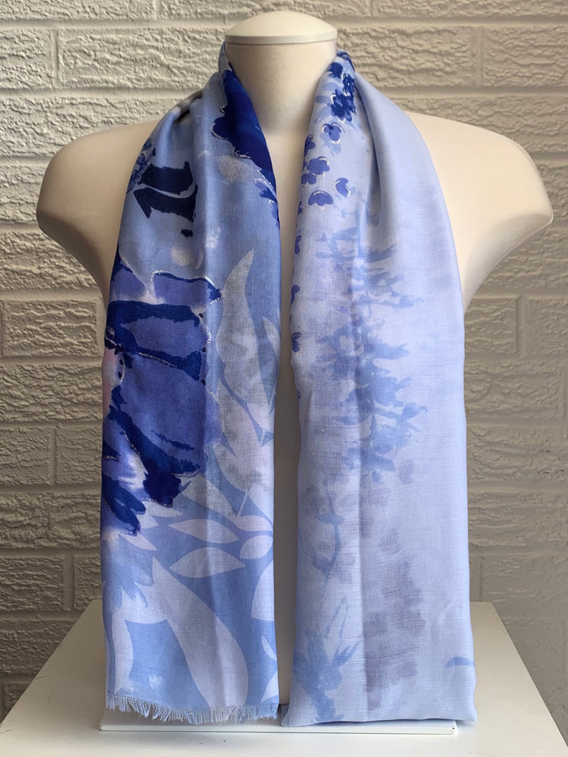 Printed Cotton - Fresh Spring - Blues