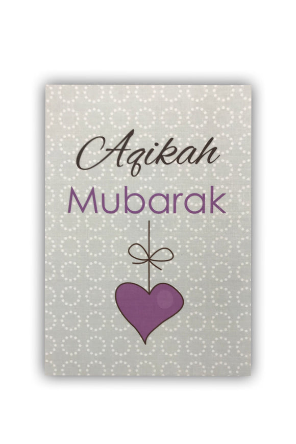 Aqikah Heart Card