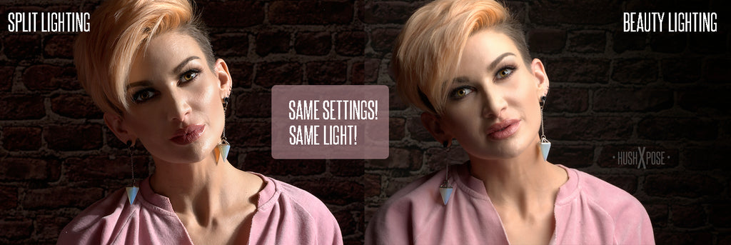 Kat Armendariz Kat on the Web  split lighting vs beauty lighting image