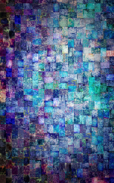 Aqua Mosaic Backdrop