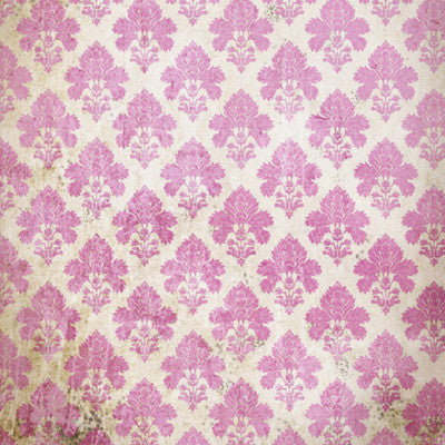 Damask Distressed Pink • Wallpapers