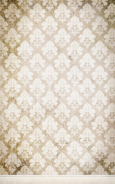 Damask Distressed White • Wallpapers