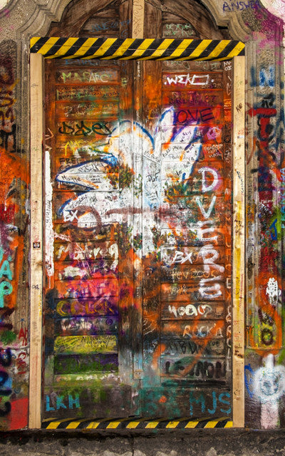 Graffiti Door 2 Backdrop