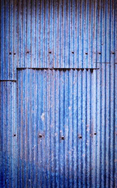 Blue Corrugated Panel Backdrop