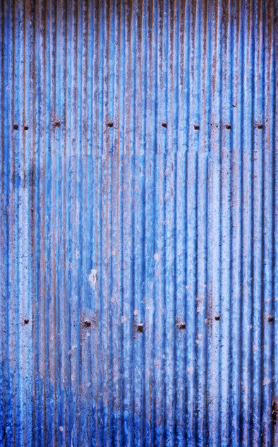 Blue Corrugated Steel Backdrop