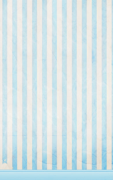 Blue Candy Stripe Backdrop